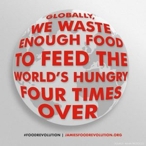 Globally we waste enough food to feed the world's hungry, four times over